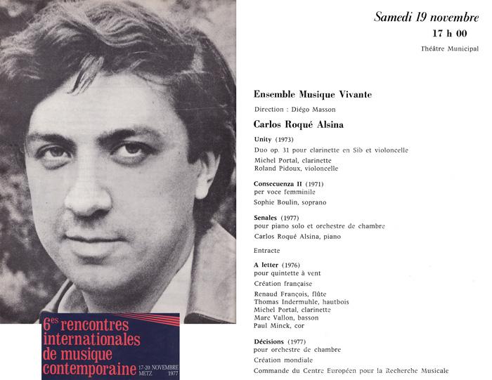 Carlos Roqué Alsina Metz 1977