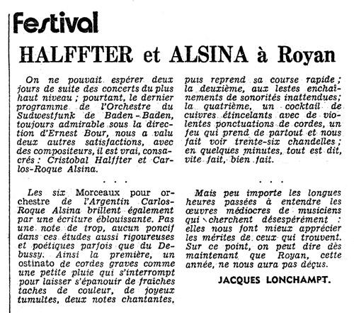 Carlos Roqué Alsina Royan 1977