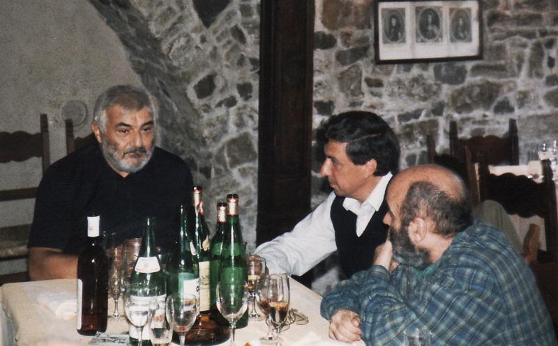 Carlos Roque Alsina avec Donatoni et Luis de Pablo -Trieste 1988