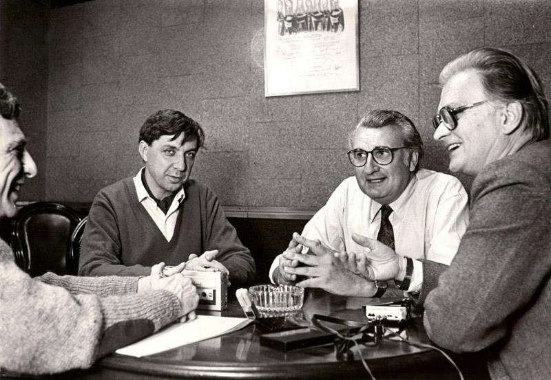 Avec Mario Davidovsky et Francisco Kröpfl - Buenos Aires 1986