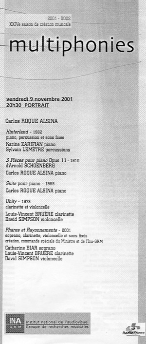 Carlos Roqué Alsina Portrait 2001