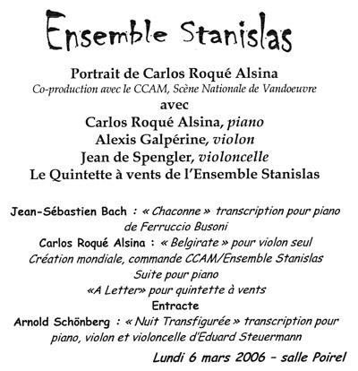 Carlos Roqué Alsina Portrait 2006