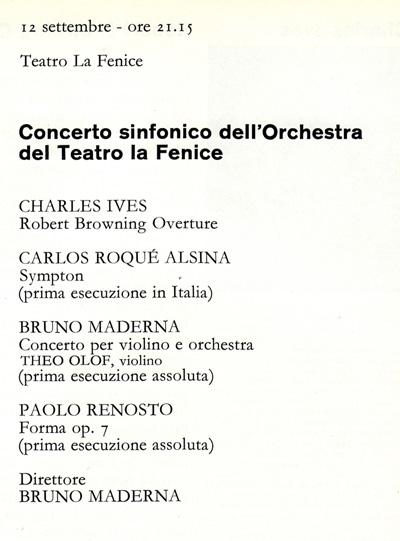 Carlos Roqué Alsina La Fenice