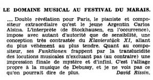 Carlos Roqué Alsina festival du Marais 1966