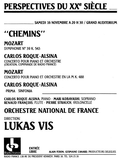 Carlos Roqué Alsina Radio France 1985